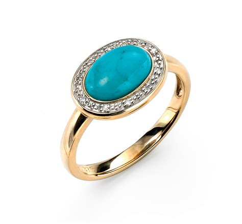 turquoise yellow gold rings wedding promise