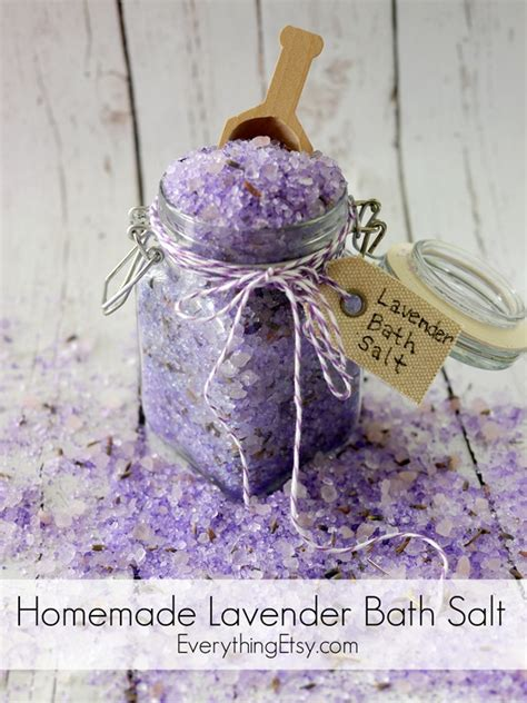homemade bathtub homemade lavender bath salt tutorial everythingetsy com