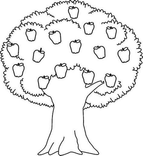free coloring pages of apple trees download