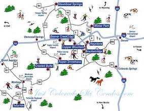 map of ski resorts colorado colorado springs ski resorts map images