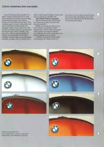 bmw colour charts through the years