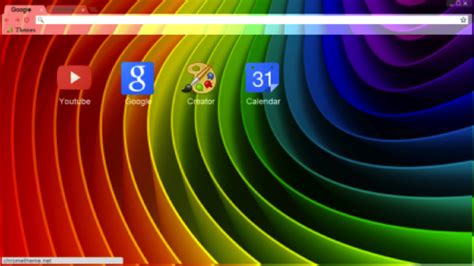 google themes rainbow brighten your browser with solid color google chrome