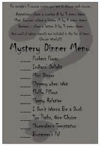 mystery dinner menu recipes and crafts oh my mystery dinner date