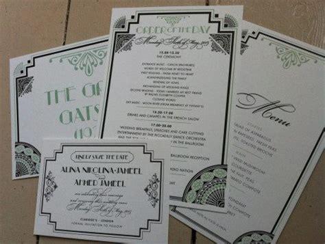 gatsby wedding invitations uk great gatsby wedding stationery