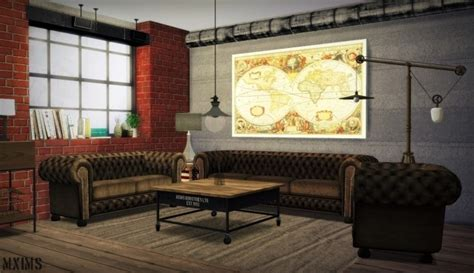 industrial living room furniture urban industrial living room at mxims 187 sims 4 updates