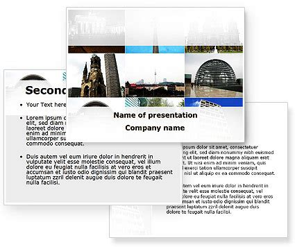 microsoft powerpoint themes berlin sights of berlin powerpoint template poweredtemplate com