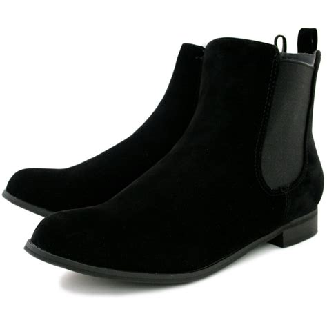 flat suede shoes buy flat chelsea ankle boots black suede style