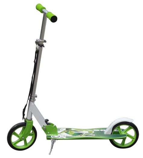 kids scooter with big wheels green aluminium kids pro folding push urban kick scooter 2