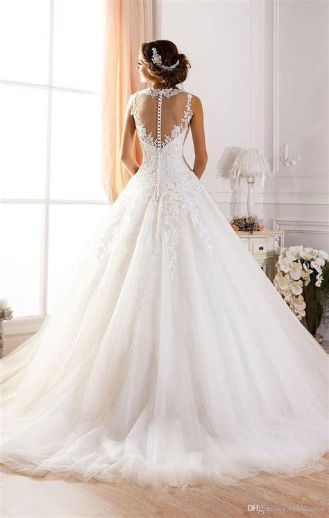 Gorgeous Backless Ball Gown Wedding Dresses Cherry Marry