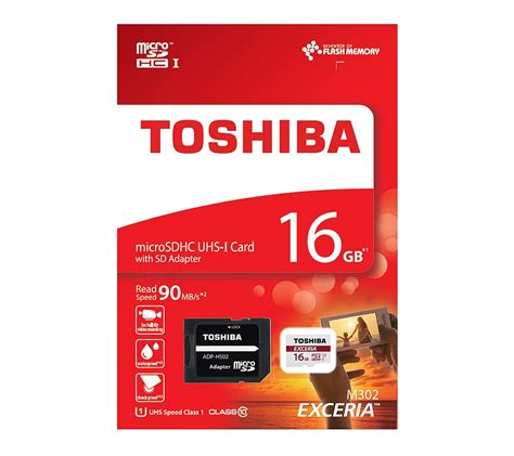 Micro Sd 16gb Toshiba toshiba 16gb exceria micro sd card with adapter all