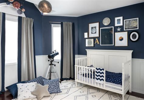 Navy Blue Room Decor by Cosmic Nursery Decor Project Nursery