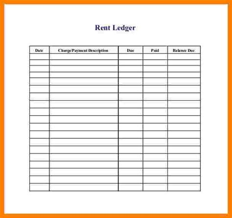 Receipt Data Entry Template Excel by 7 Rental Ledger Template Excel Ledger Review
