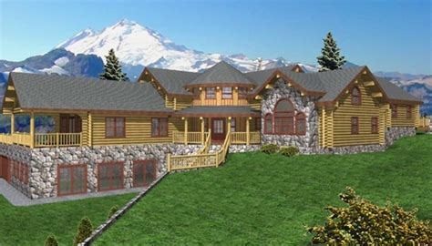 grand rapids log home plans 5280sqft streamline design