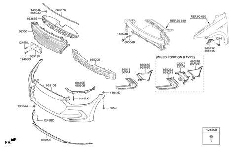 hyundai elantra parts diagram front bumper for 2017 hyundai elantra us alabama made