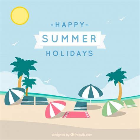 imagenes de vacaciones gratis tarjeta de feliz vacaciones de verano descargar vectores