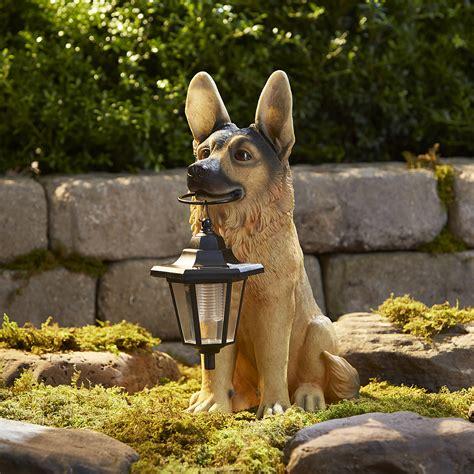 lawn decor german shepherd with lanterns outdoor living outdoor