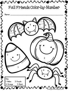 halloween coloring pages for elementary halloween color by number freebie by kindergarten kel tpt