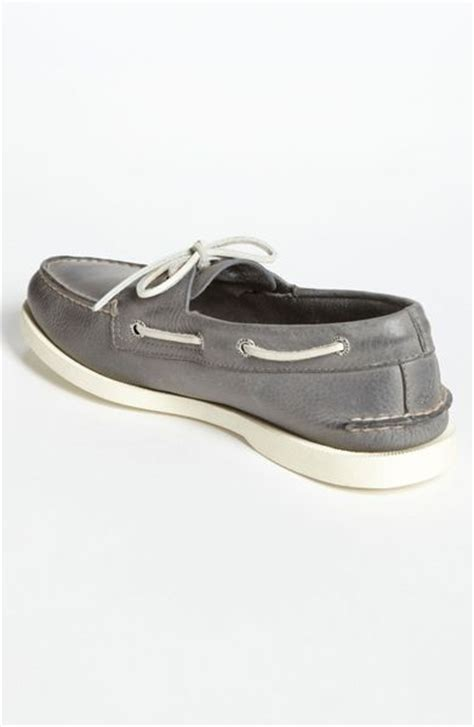 sperry top sider authentic original boat shoe in gray