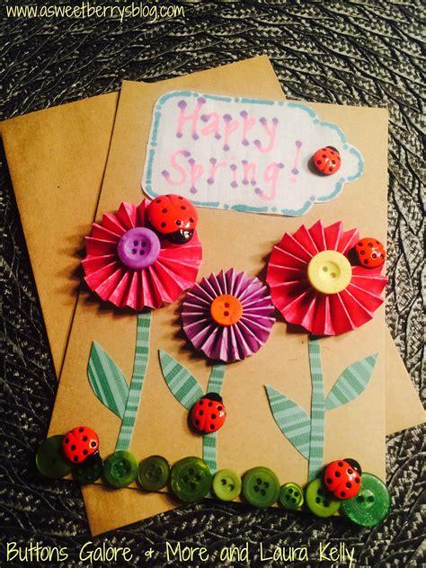 greeting card materials ladybug button card