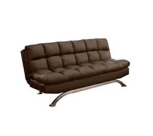aristo ii faux leather futon sofa qvc