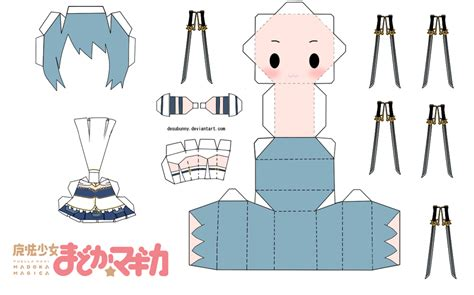Chibi Papercraft Template - paper crafts magazine templates for