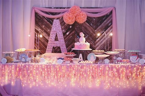 Studio Drapes A Whimsical Winter Wonderland Birthday Party One