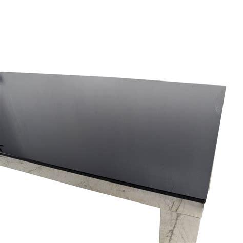 82 modani modani tempered black glass top table