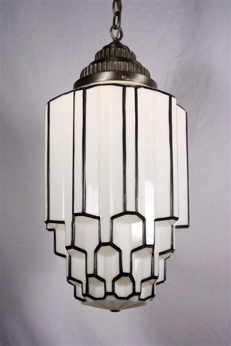 Vintage Stained Glass Hanging Lamp by 25 Best Ideas About Art Deco Lighting On Pinterest Art