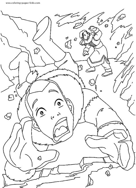 coloring pages avatar characters avatar the last airbender color page cartoon color pages