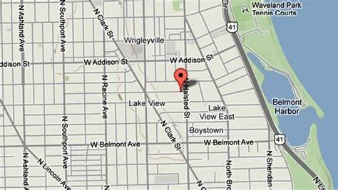 chicago map lakeview attacks 2 in lakeview tribunedigital