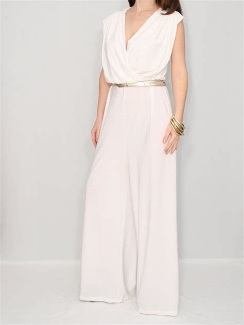 Wedding Dress Jumper by Ivory Jumpsuit Wrap Top Palazzo Jumper