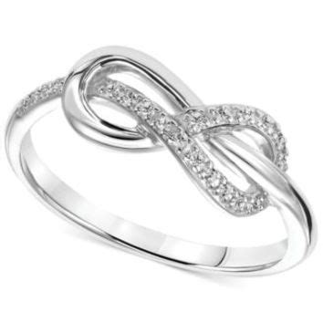 accent infinity knot promise ring from macys