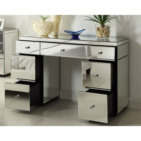 Vanity Table With Drawers Mirrored Vanity Table With Drawers