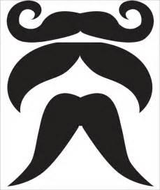 mustache template printable mustache template free premium templates