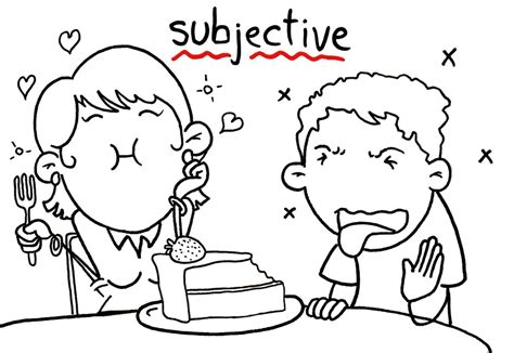 exles of objective and subjective statements things that are relative subjective hire