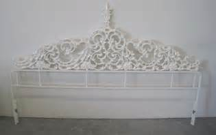 top antique metal headboard on antique wrought iron