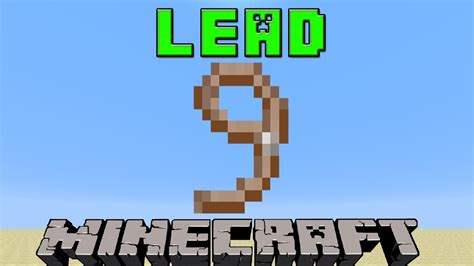 how to lead a how to make a lead in minecraft 1 8 update