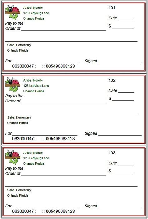 pretend checks template 25 best ideas about printable checks on kid