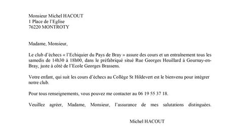 modele lettre de motivation pour college prive rentree en