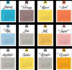 2018 Calendar Template Illustrator 2018 Calendar Template Flat Rectangular Section Isolation