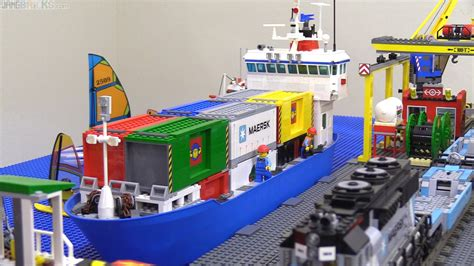 lego boat cargo lego container ship moc complete