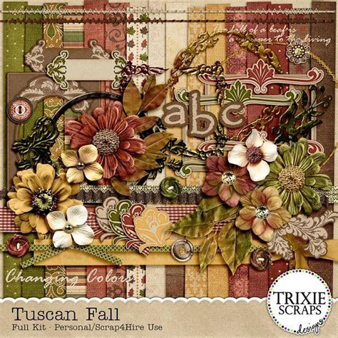 Bringing Digital Scrapbooking To Scrapbook Retail Stores The Mad Cropper 7 by Tuscan Fall Digital Scrapbooking Kit Seasons Autumn