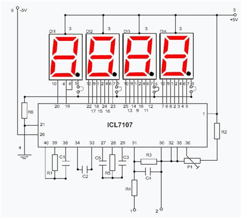 digital voltmeter circuit diagram digital voltmeter for power supply