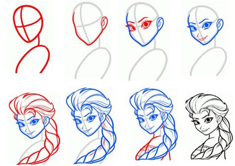 how to draw elsa doodle draw how to draw elsa step by step painting frozen