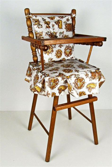 Wooden Doll High Chair Plans by Vintage Miniature Wood Doll High Chair