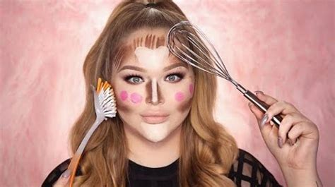 Makeup tutorial using kitchen utensils will leave you in splits