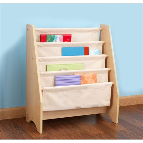 sling bookshelf in finish nursery decor