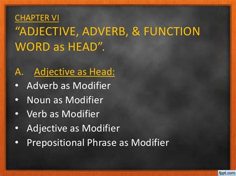 Structure Of Modification Adjective As by Syntax Ch 6