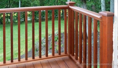 Decking Banister by Ipe Decking Handrail Ipe Balusters