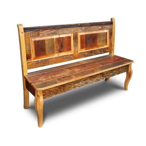 bench in french barnwood french bench w back
